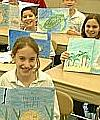 Corpus Christi Students display their books